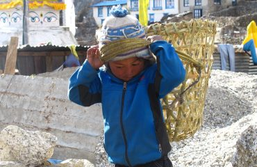 Kid in Namche Bazaar