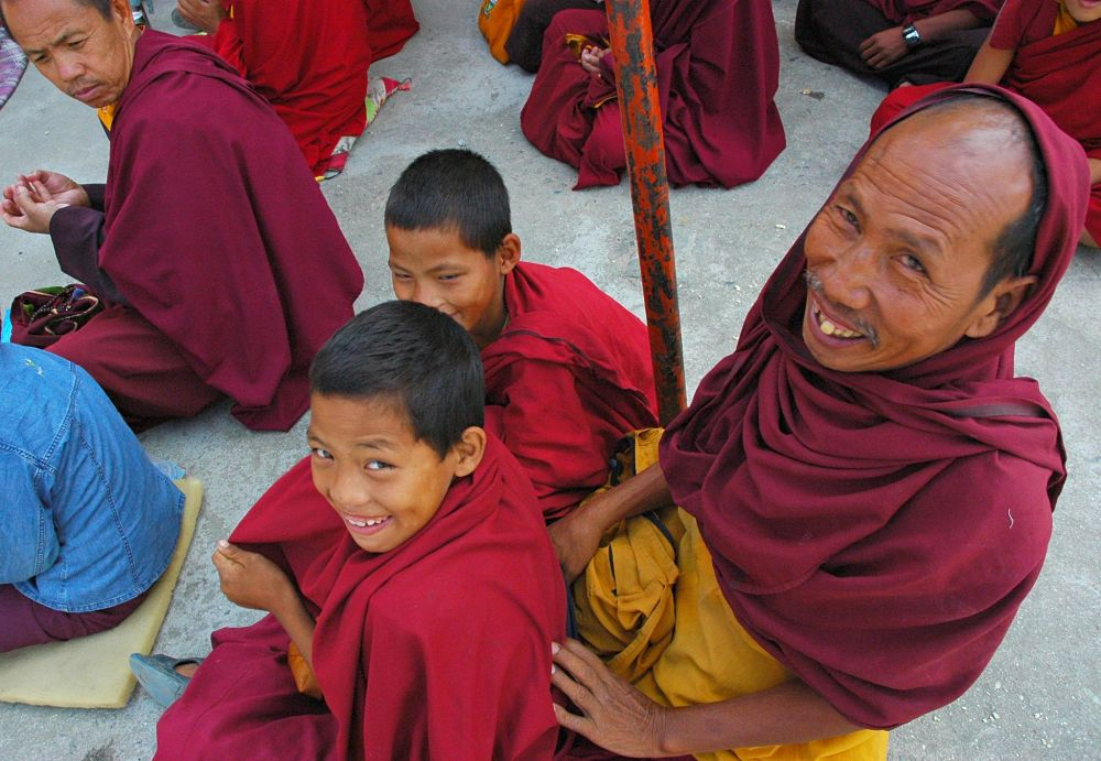 By Mountain People Buddhist monks