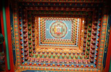 Ceiling of the gompa in Upper Pisang
