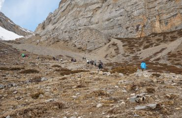 Climb from Thorong Phedi to High Camp