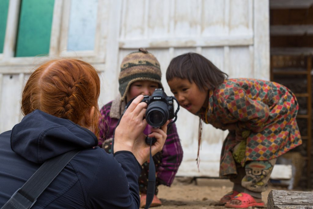 Curious children of Langtang by Jonny
