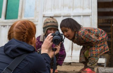 Curious children of Langtang