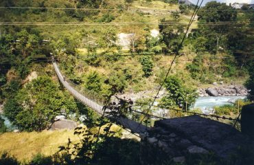 Suspension bridge at Jagat