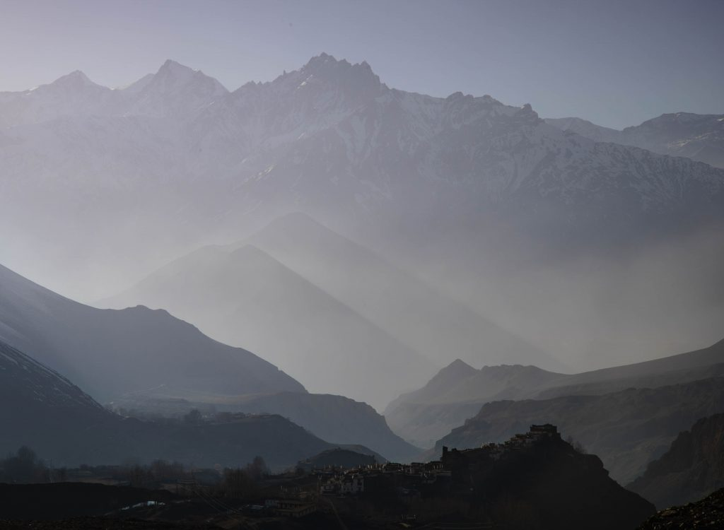 View of Jharkot and Kagbeni by Charlie Cohn