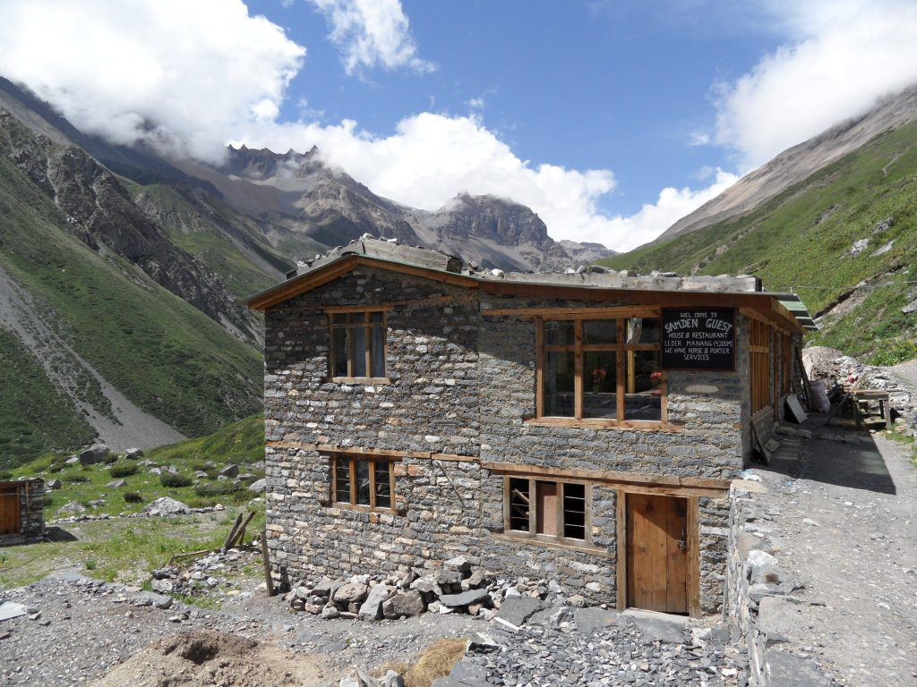 Mountain lodge in Yak Kharka by Lilly