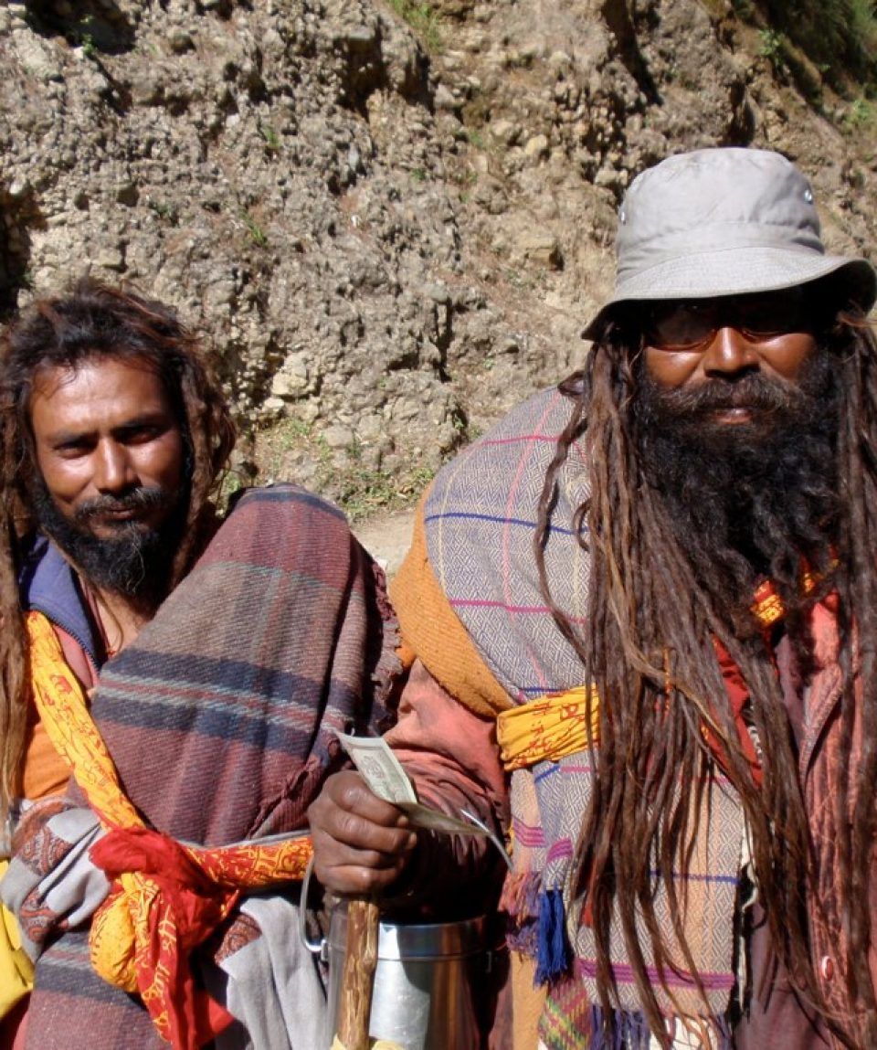 Sadhus returning from Muktinath Temple