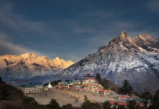 Sunrise at Tengboche by Ivan B.